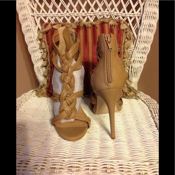 Charlotte Russe Shoes - NWOT Charlotte Russe strappy platform shoes.
